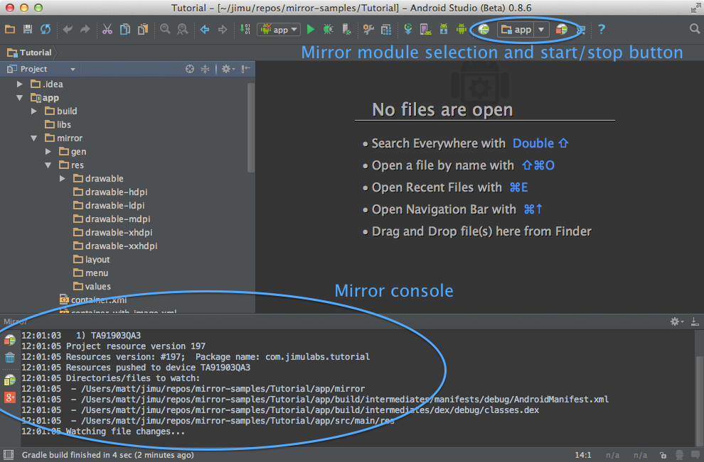 Mirror Android Studio plugin
