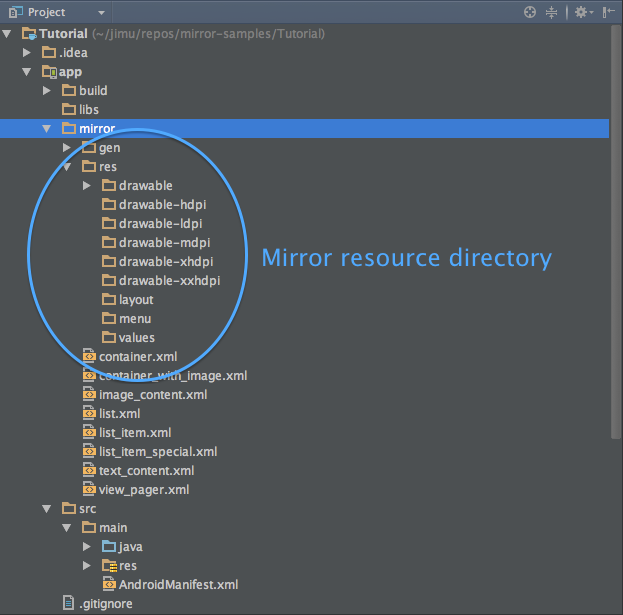 Mirror resource directory