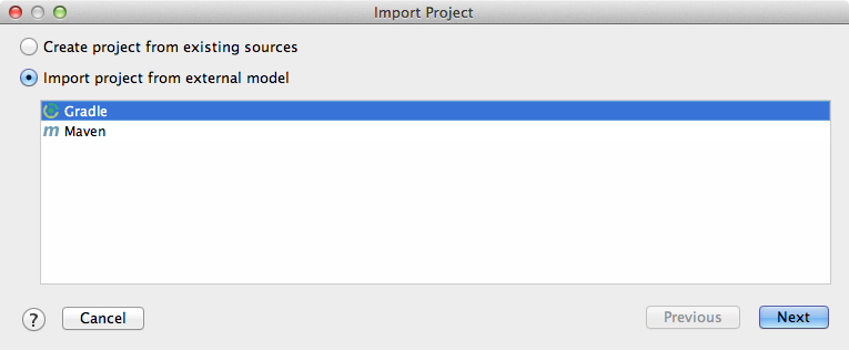 Importing the sample project